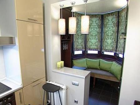 Дизайн маленьких кухонь с балконом