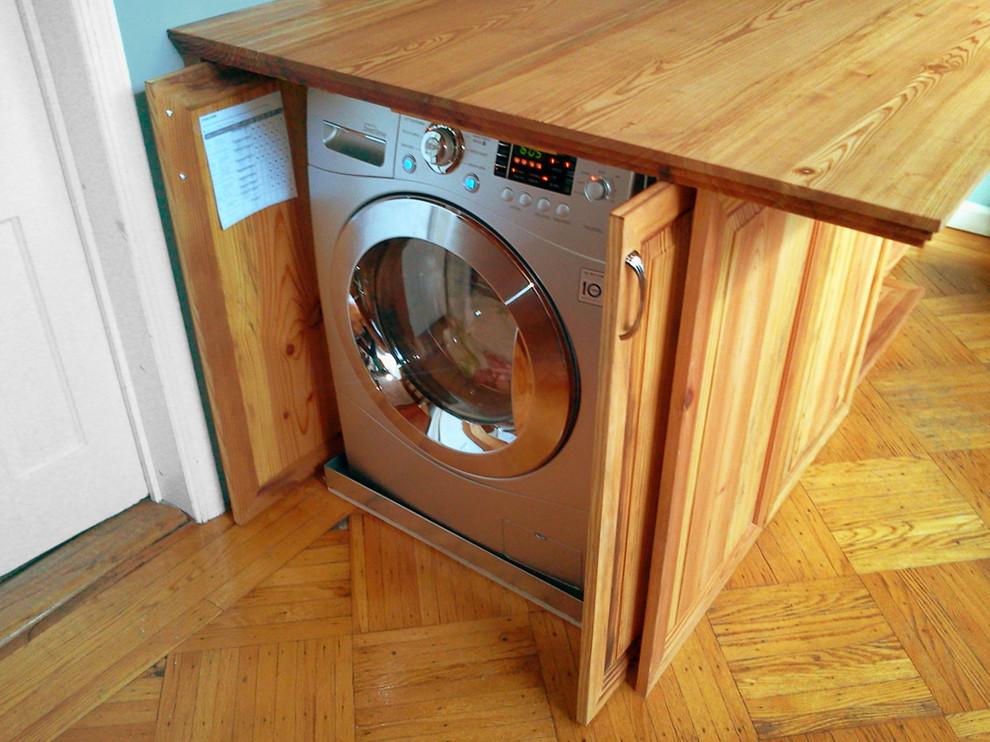 Встроенная стиральная машина в кухонном острове