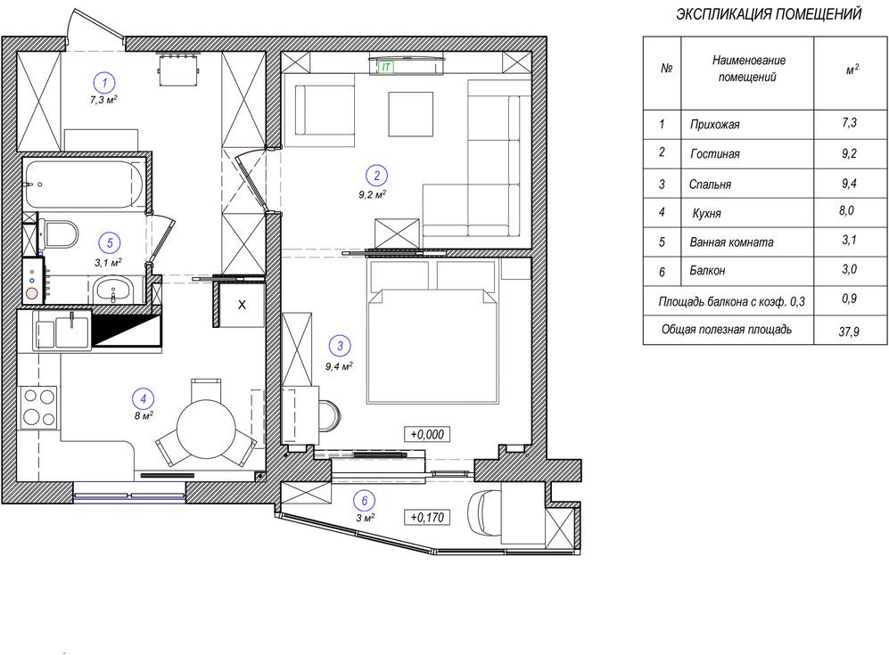 Планировка квартиры в классическом стиле