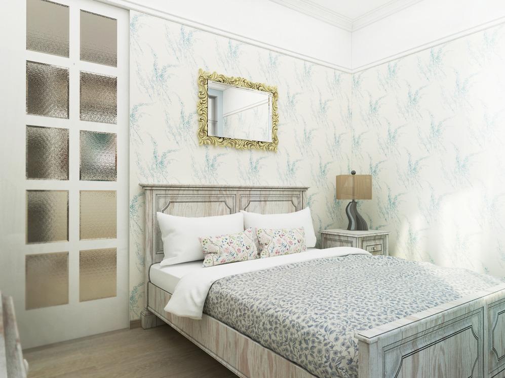 Деревянный мебельный гарнитур в спальне