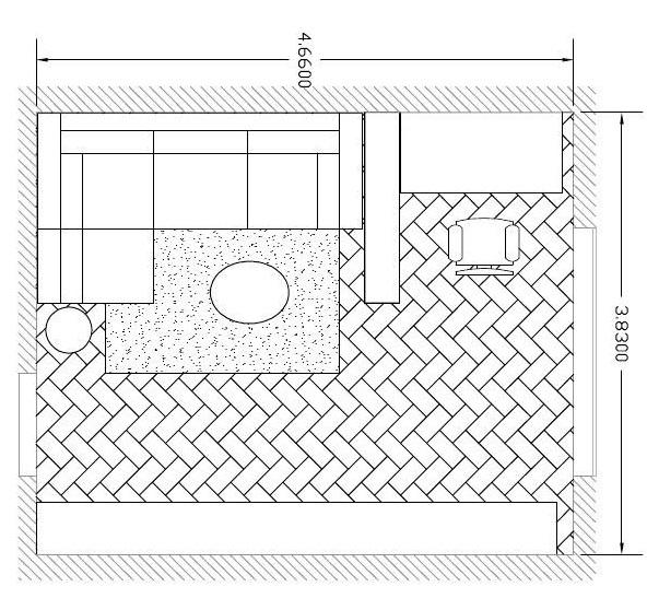 План комнаты площадью 18 квадратных метров