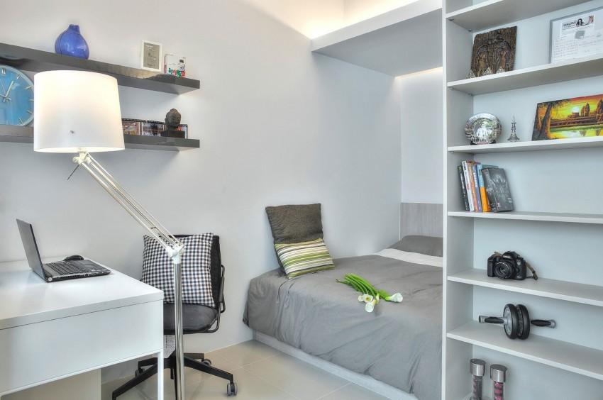 Спальня и кабинет в квартире-студии