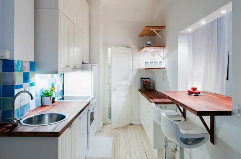 Интерьер кухни в небольшой квартире