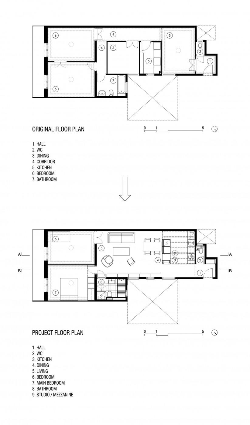 Планировка квартиры с высокими потолками до и после ремонта