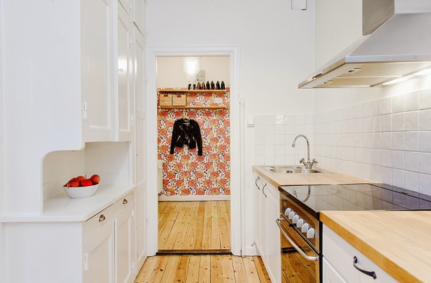 Кухня и прихожая в скандинавском стиле