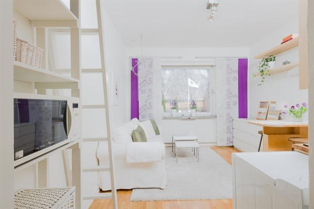 Оформление квартиры-студии в светлом скандинавском стиле