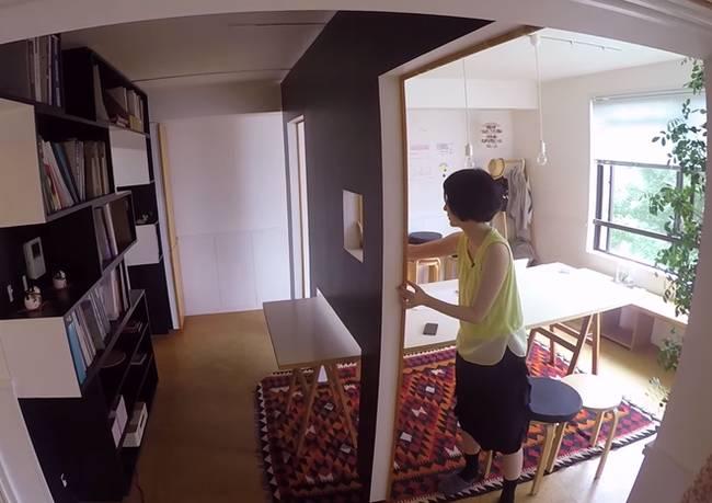 Передвижная стена в квартире