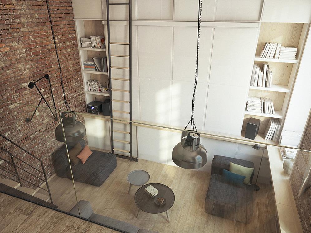 Лестница на стеллаже