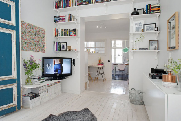 Интерьер небольшой квартиры в Стокгольме