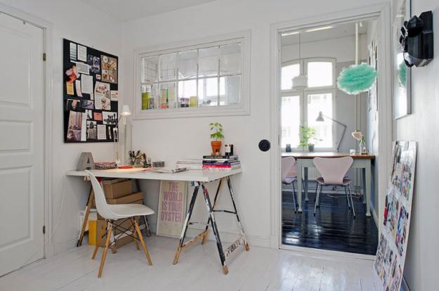 Кабинет небольшой квартиры в Стокгольме