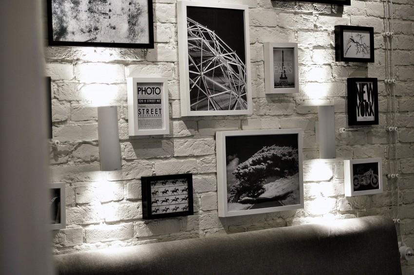 Белый кирпич в интерьере фото