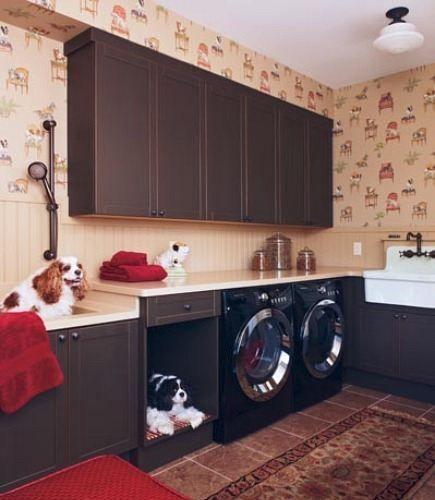 Место для собаки в кухонном гарнитуре