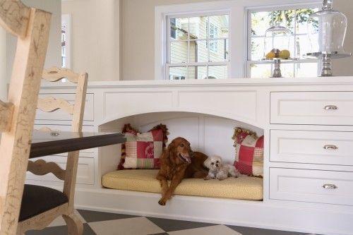 Место для собаки на кухне