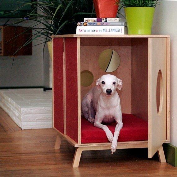 Место для собаки в тумбочке