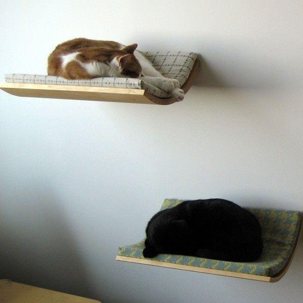 Настенные полки для кошек