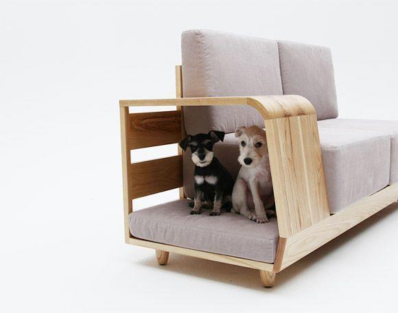 Диван с местом для собаки