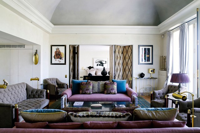 Дизайн интерьера гостиной от Rose Anne de Pampelonne