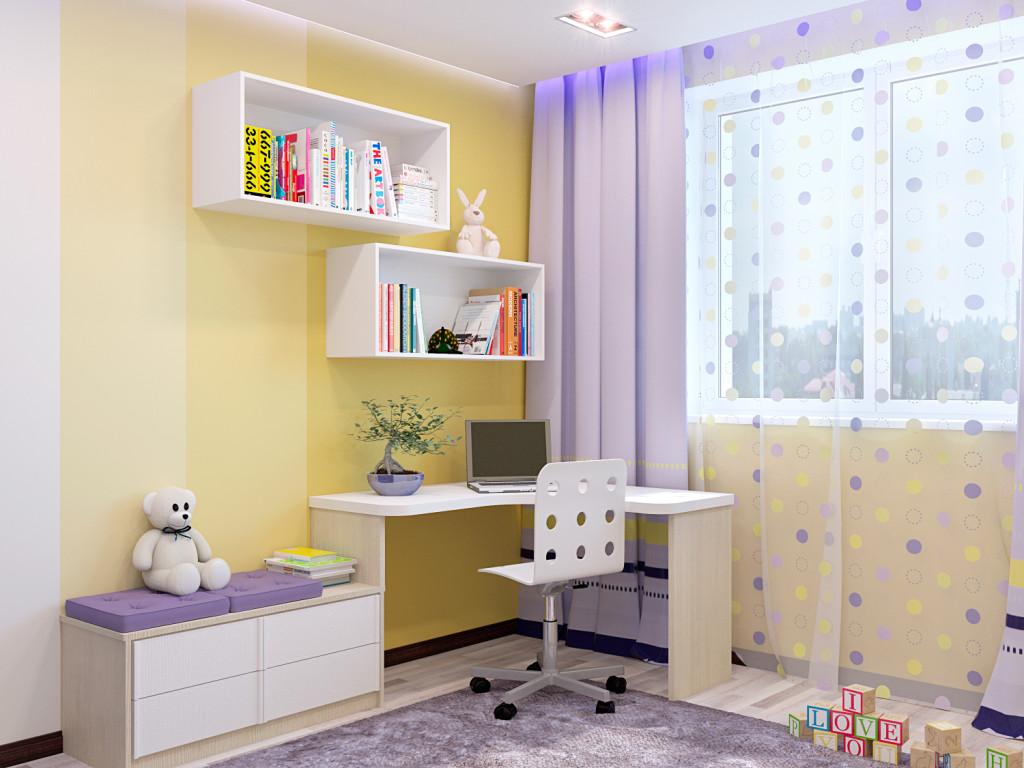 Стол в детскую комнату: места для обустройства письменных ме.