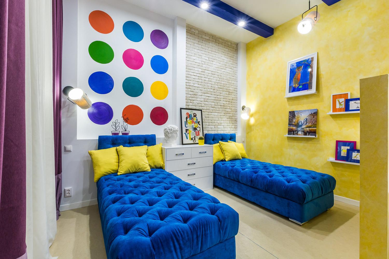 Дизайн маленьких детских комнат на 2 детей 63