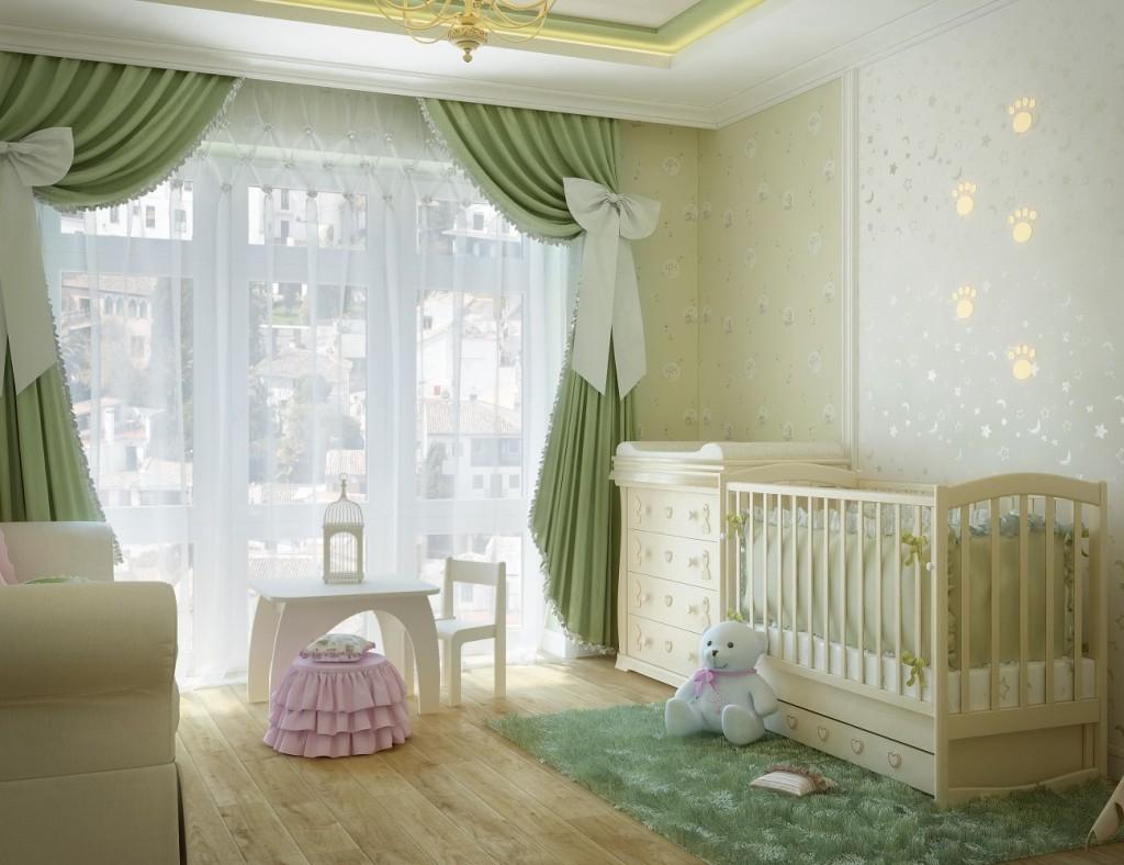 Плюшевый мишка в интерьере детской