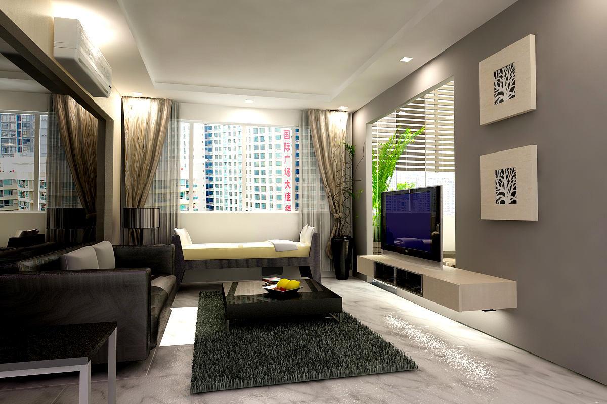 Чёрно-белый цвет в оформлении гостиной