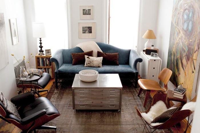 Современный интерьер небольшой гостиной