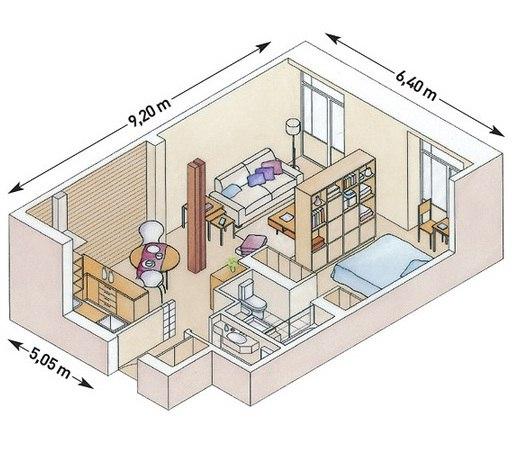 Схема планировки квартиры
