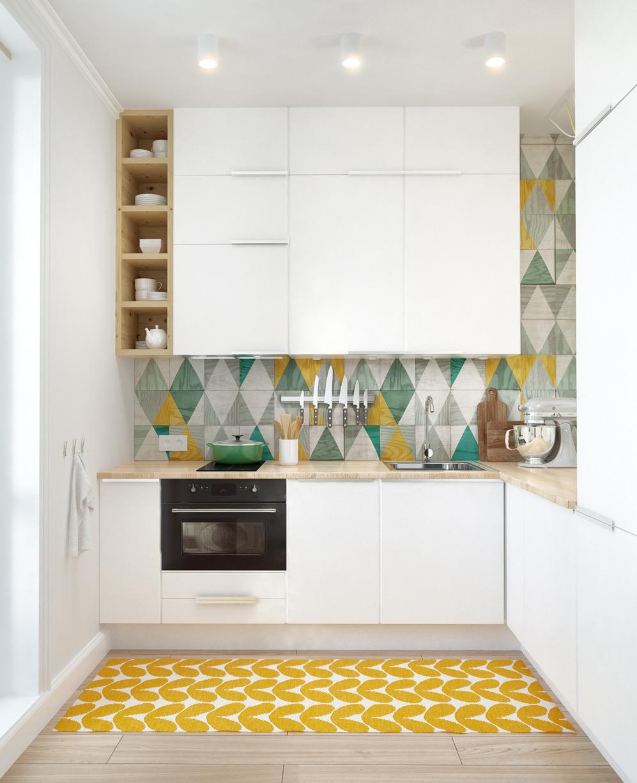 Интерьер кухни дизайнерской квартиры в Подмосковье