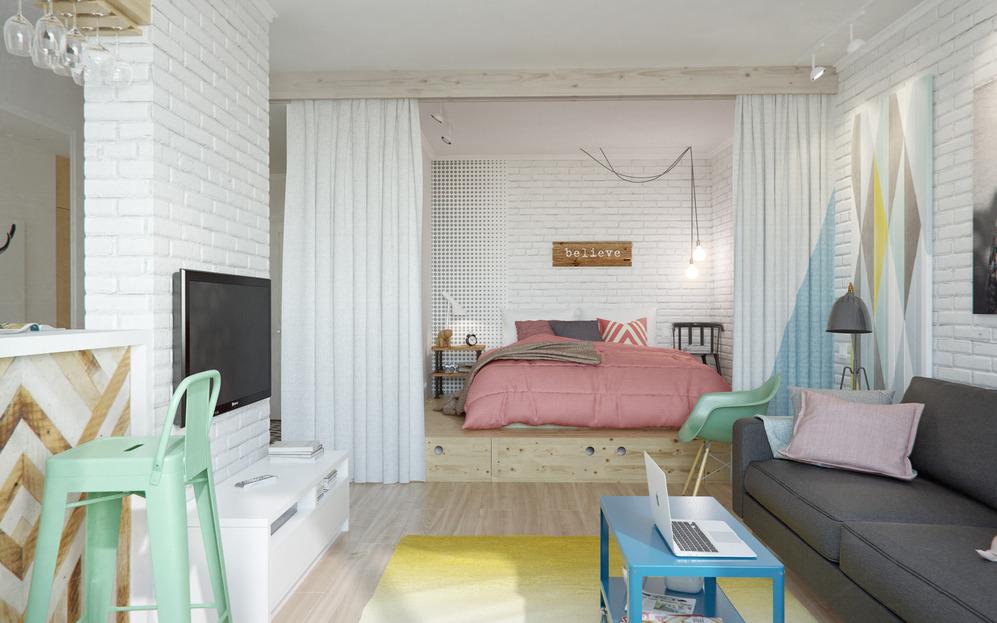Интерьер дизайнерской квартиры в Подмосковье