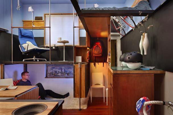 Интерьер трёхуровневой квартиры в Сиэтле