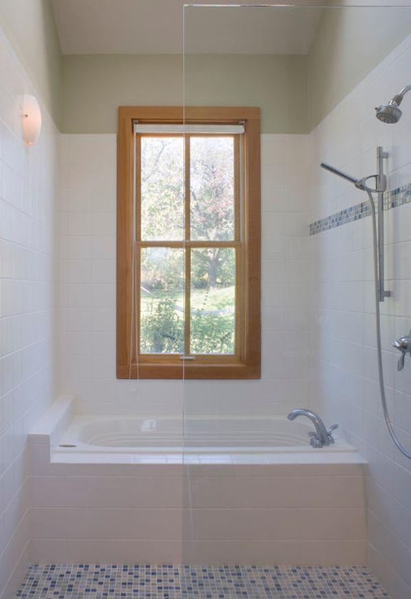 Ванна за стеклянной перегородкой