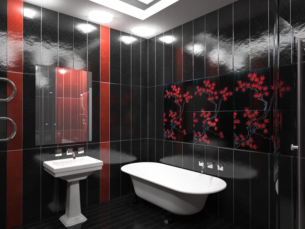 Маленькая ванна в ванной комнате