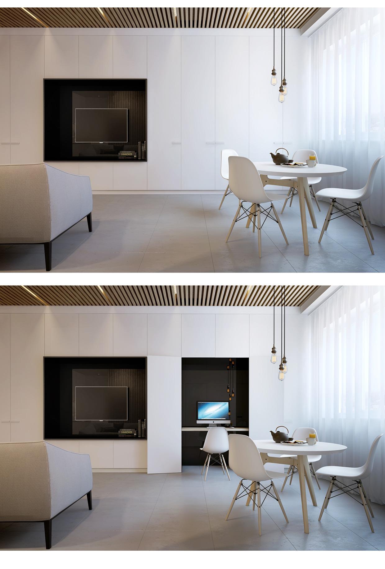 Спрятанный кабинет в маленьком доме
