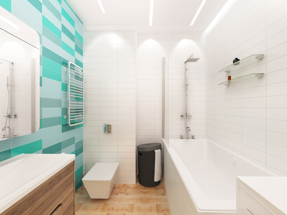 Ванная комната в маленьком доме