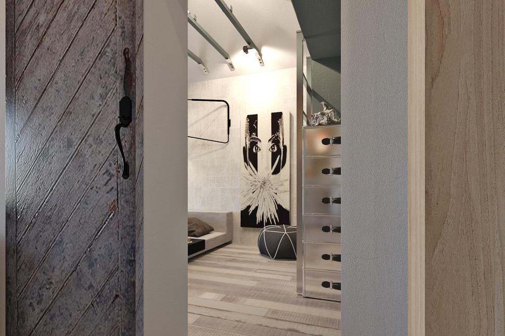 Деревянная отделка в интерьере маленького дома