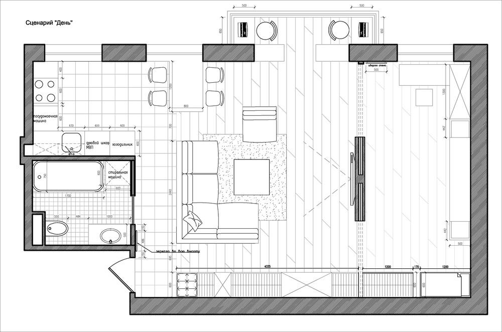 Планировка маленького дома с перегородкой