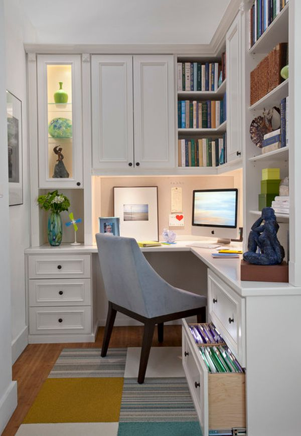 Рабочий уголок в домашнем кабинете
