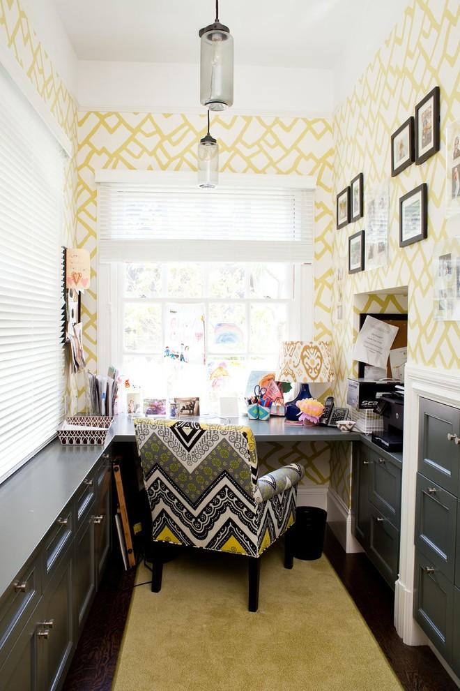 Интерьер маленького домашнего кабинета
