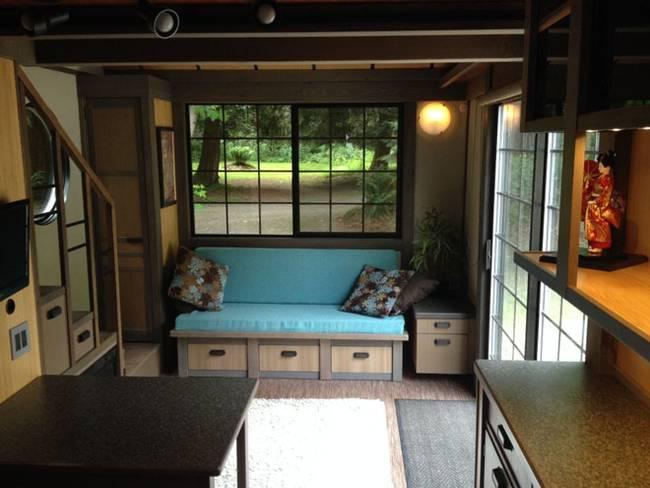 Гостиная в маленьком японском доме