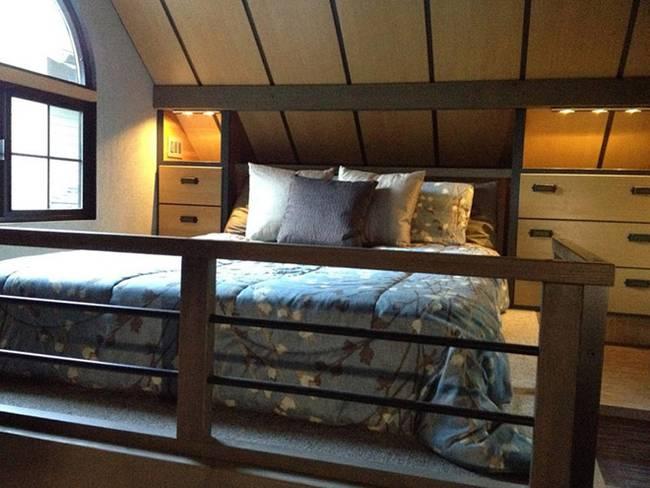 Спальня в маленьком японском доме