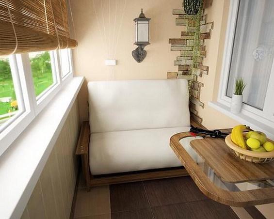 Место для отдыха на небольшом балконе