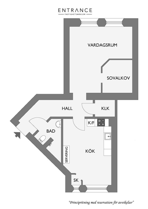 Планировка квартиры с маленькой спальней