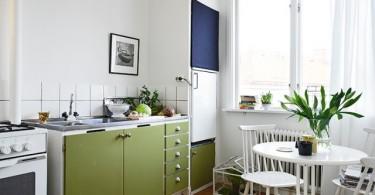 Маленькая кухня без навесных шкафов