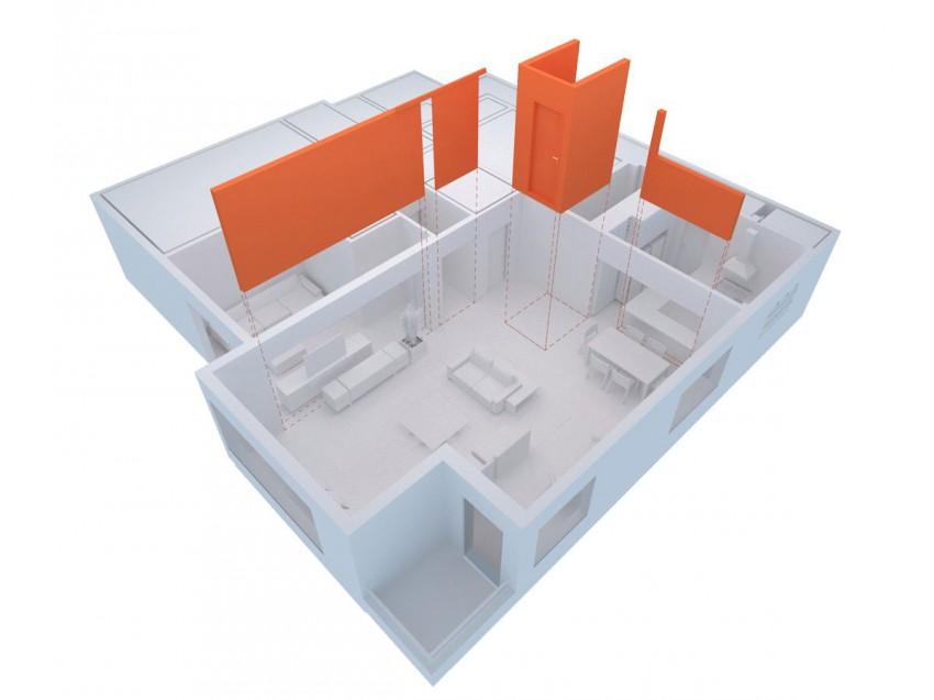 Холостяцкое жилище Maranhão Apartment. План квартиры