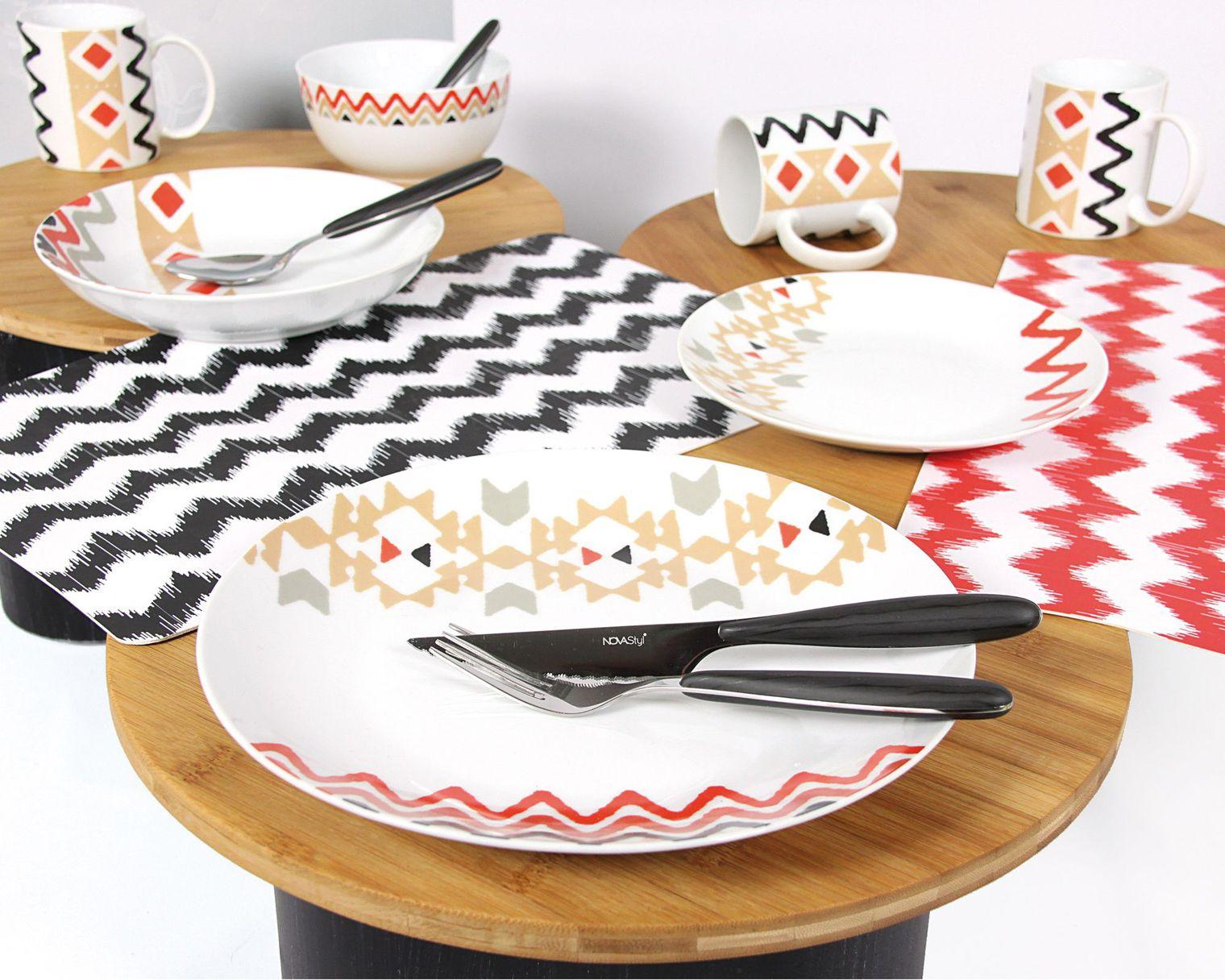 Мебель для комнаты: яркая посуда для обеденного стола