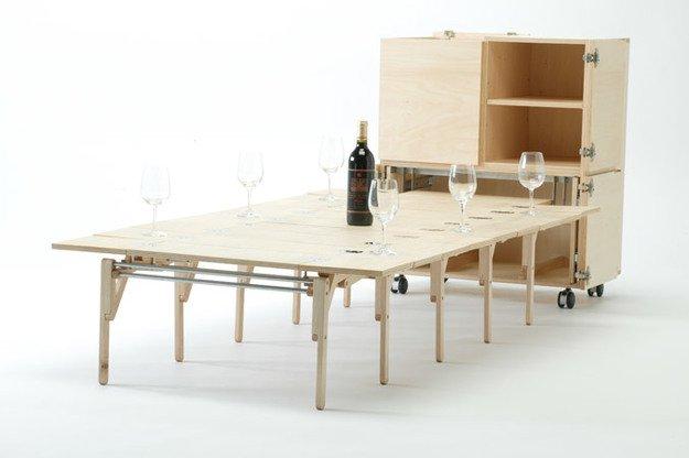 Шкаф-стол от Нобуиро Тешима, Япония