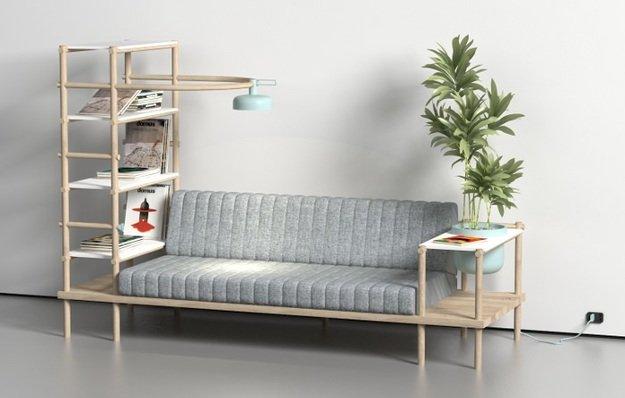 Этажерка-диван от Burak Kocak, Турция