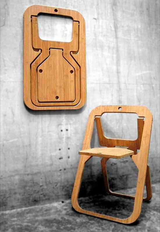 Раскладной стул от дизайнера Christian Desile, Франция