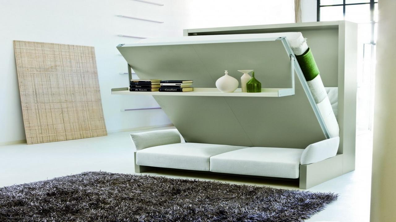 Раскладной диван-кровать в спальне