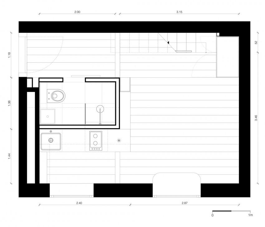 Планировка первого уровня двухуровневой квартиры